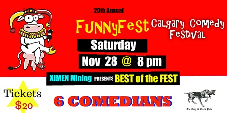 "SATURDAY, Nov. 28 @ 8 pm - ""BEST of the FEST"" - Dog Duck Pub - FUNNYFEST tickets"