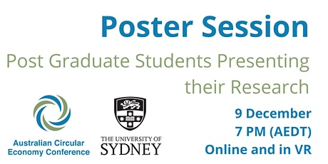 Poster Session - Australian Circular Economy Conference 2020 tickets