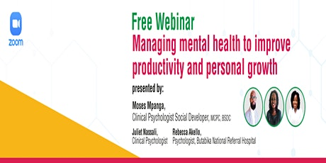 Managing mental health to improve productivity and personal growth tickets