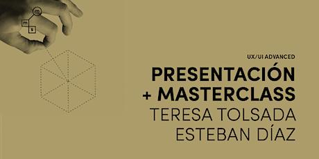 Masterclass con Teresa Tolsada y Esteban Díaz entradas