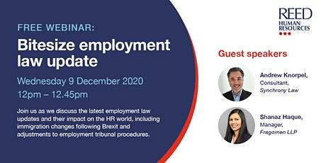 Bitesize employment law update tickets