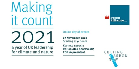 Making it count: a year of UK leadership for climate and nature tickets