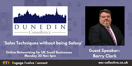 EEC Collective UK Online Networking -  Guest  Speaker Barry Clark tickets