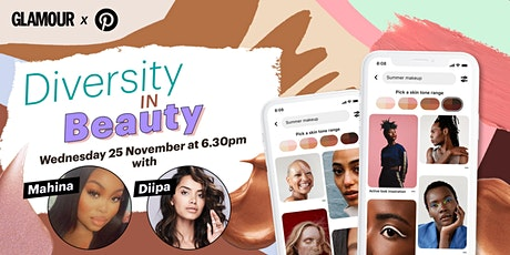 GLAMOUR x Pinterest: Diversity in Beauty boletos