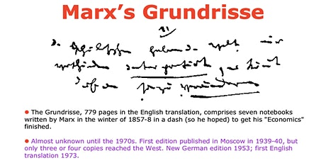Study group on Marx's Grundrisse tickets