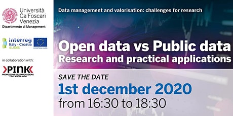 Open data vs Public data - S.LI.DES. Open Regional Workshop tickets