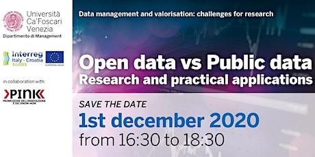 Open data vs Public data - S.LI.DES. Open Regional Workshop biglietti