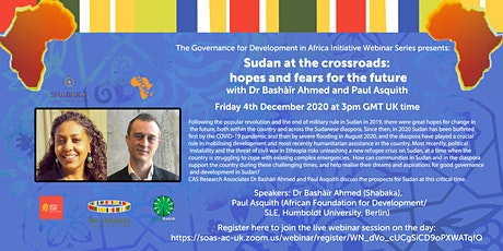 GDAI Webinar #7: Sudan at the crossroads: hopes and fears for the future tickets