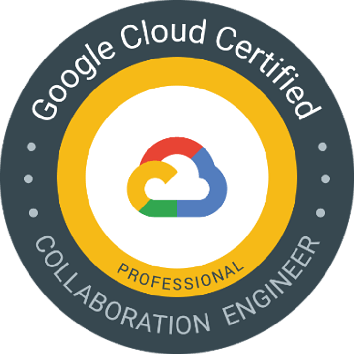 GOOGLE CLOUD CERTIFIED - PROFESSIONAL COLLABORATION ENGINEER image