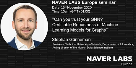 NAVER LABS Europe seminar: Can you trust your GNN? tickets