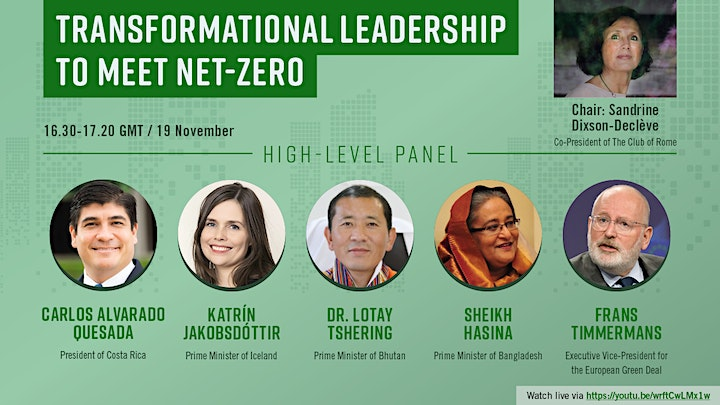 Transformational Leadership Session: Race to Zero Dialogues image