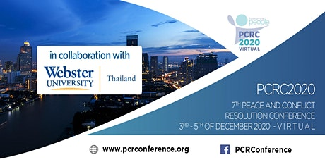 7th Peace and Conflict Resolution Conference [PCRC2020] tickets