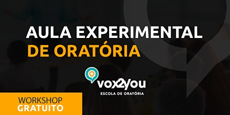 Workshop de Oratória - PRESENCIAL ingressos
