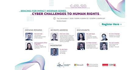 Bracing for Impact Webinar Series – Cyber Challenges to Human Rights tickets