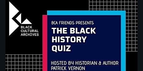 The Black History Quiz tickets
