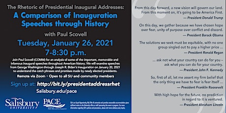 The Rhetoric of Presidential Inaugural Addresses tickets