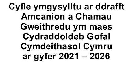 Cyfle ymgysylltu ar ddrafft Amcanion a Chamau Gweithredu ym maes Cydraddold tickets