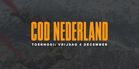 COD Nederland toernooi tickets
