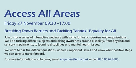 Access All Areas - Disability Equality, Diversity & Inclusion tickets