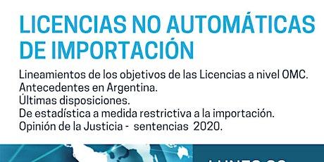 LICENCIAS NO AUTOMATICAS DE IMPORTACION entradas