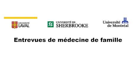 Entrevues CaRMS 2021 - Médecine de famille billets