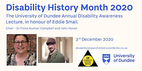 University of Dundee Disability Awareness Lecture In Honour of Eddie  Small tickets
