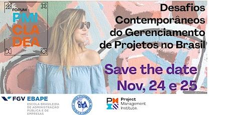 Fórum PMI - CLADEA - Brasil – 2020 bilhetes
