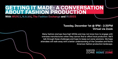 Getting it made: a conversation about fashion production tickets