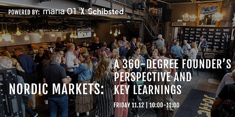 Nordic Markets - A 360 Degree Founder's Perspective and Key Learnings tickets