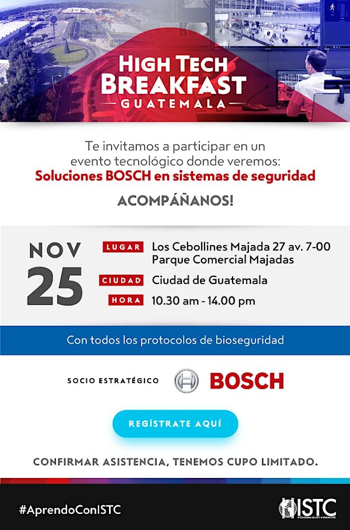 """Imagen de HIGH TECH BREAKFAST GUATEMALA """" SOLUCIONES BOSCH EN SISTEMAS DE SEGURIDAD"""""""