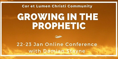 GROWING IN THE PROPHETIC ONLINE with Damian Stayne tickets