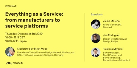Everything as a Service: From manufacturers to service platforms tickets