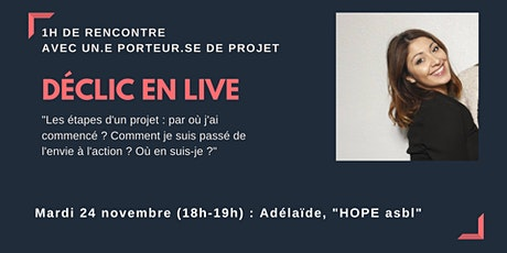 Déclic en Live : viens rencontrer Adélaïde ! billets