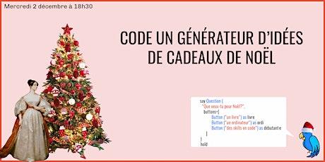 WORKSHOP : Code un chatbot qui te donne des idées de cadeaux de Noël ! tickets