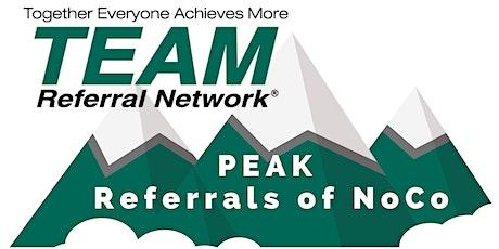 PEAK Referrals of Northern Colorado Weekly Meeting tickets