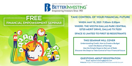 BetterInvesting National Convention 2021  Financial Empowerment Seminar tickets