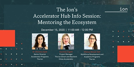 Accelerator Hub Info Session: Mentoring the Ecosystem tickets