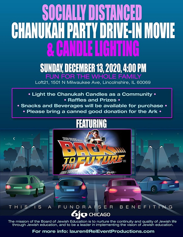 Community Socially Distanced Chanukah Party image