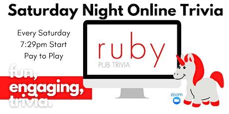 Weekly Saturday Night LIVE Virtual Trivia! tickets