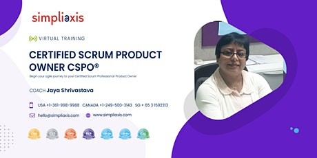 Certified Scrum Product Owner(CSPO)Training from Jaya Shrivastava tickets