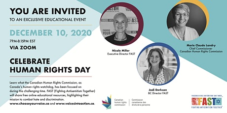 Celebrate Human Rights Day with the CHRC Chief Commissioner and FAST tickets