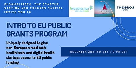 How to Get EU Public Funding for U.S. HealthCare Startups tickets