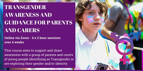 Transgender awareness and guidance for parents and carers course tickets