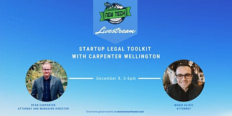 Startup Legal Toolkit with Carpenter Wellington tickets
