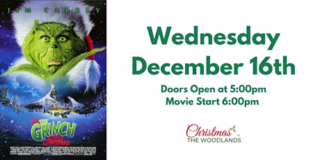 How the Grinch Stole Christmas Movie Night billets