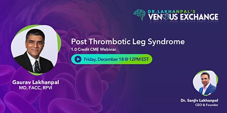 CME Webinar: Post Thrombotic Leg Syndrome tickets
