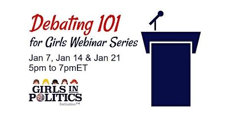 Debating 101 for Girls Webinar
