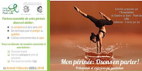 Atelier Mon périnée : osons en parler ! EVENT EN LIVE + présentiel limité ! billets
