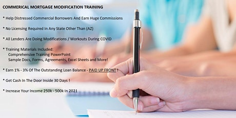 Commercial Mortgage Modification Training tickets