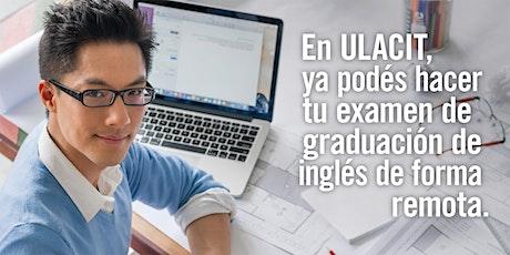 8 de diciembre:  Examen de graduación de inglés entradas